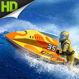 Riptide GP - Rev up your supercharged jet ski and take a wild ride through twisting canals and rivers. Boost your way to victory in Riptide GP! - logo