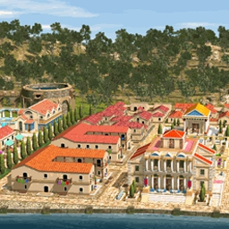 Romopolis - Build ancient Roman cities in Romopolis, a highly addictive strategy game! - logo