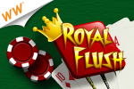 Royal Flush is a fast-paced game of skill in which Poker meets Solitaire.