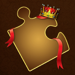 Royal Jigsaw - You control the number of pieces in each puzzle to suit your play style or your mood!  Put together beautiful pictures in Royal Jigsaw. - logo