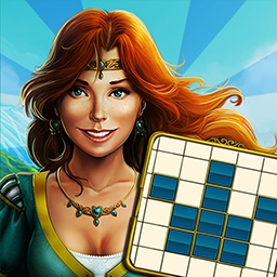 Royal Riddles - Over 100 Japanese crossword (or paint-by-number) puzzles await you in Royal Riddles!  Get ready to work out your mind! - logo