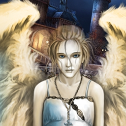 Sacra Terra Online - Play free! Sacra Terra: Angelic Night is a challenging hidden object game.  Explore an old hospital, a medieval abbey, and other eerie locations. - logo
