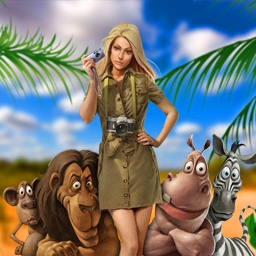 Safari Quest - Jane jets to Africa to find a rare white lion. Join her for the Match 3 adventure of a lifetime in Safari Quest! - logo