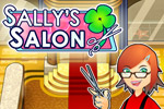 Wash, dye, cut, and style hair in over 50 levels of Sally's Salon!