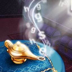 SandScript - Use your love of words to help this hapless genie! - logo