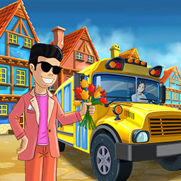 School Bus Fun - More than a dozen kids, all with different demands, make School Bus Fun a challenging and entertaining time management game. - logo