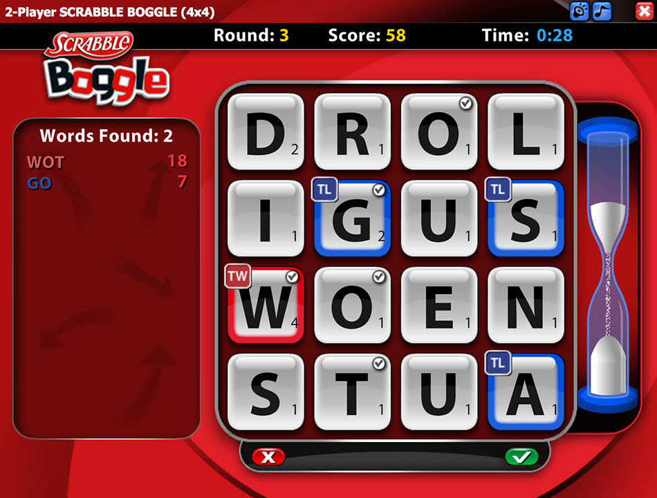 Cash Tournaments - SCRABBLE BOGGLE screen shot