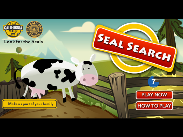 California Milk's Seal Search screen shot
