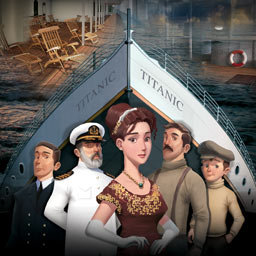 Secrets of the Titanic - Eva travels between 1912 and the present in the hidden object game Secrets of the Titanic. Her family's future is in your hands. - logo