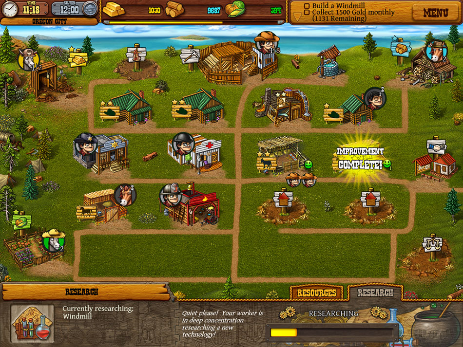 Settlers of the West screen shot