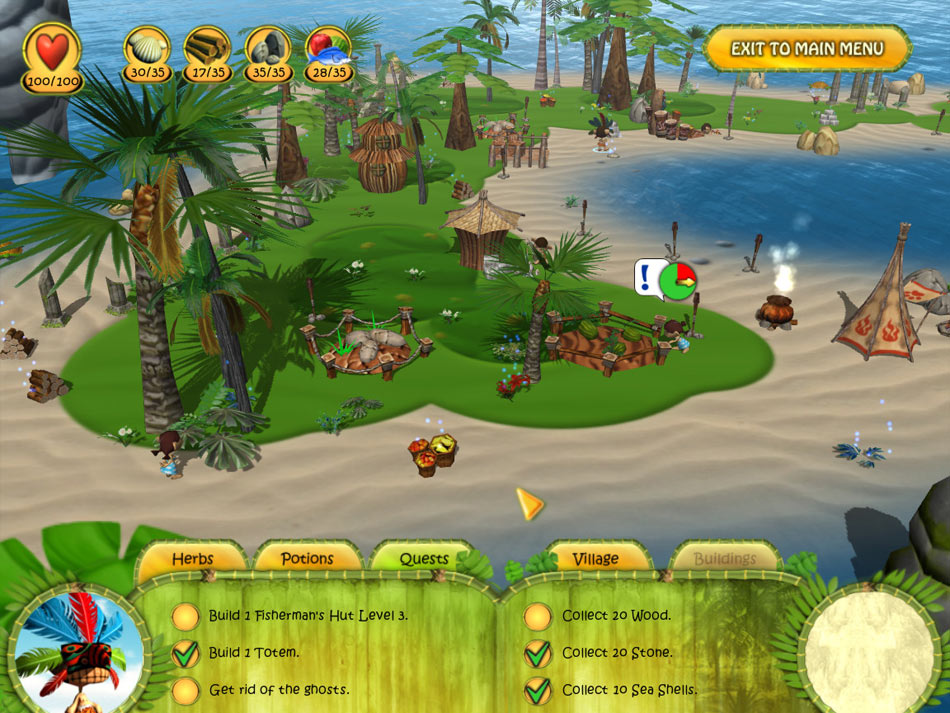 Shaman Odyssey - Tropic Adventure screen shot