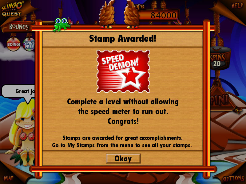 Slingo Quest screen shot