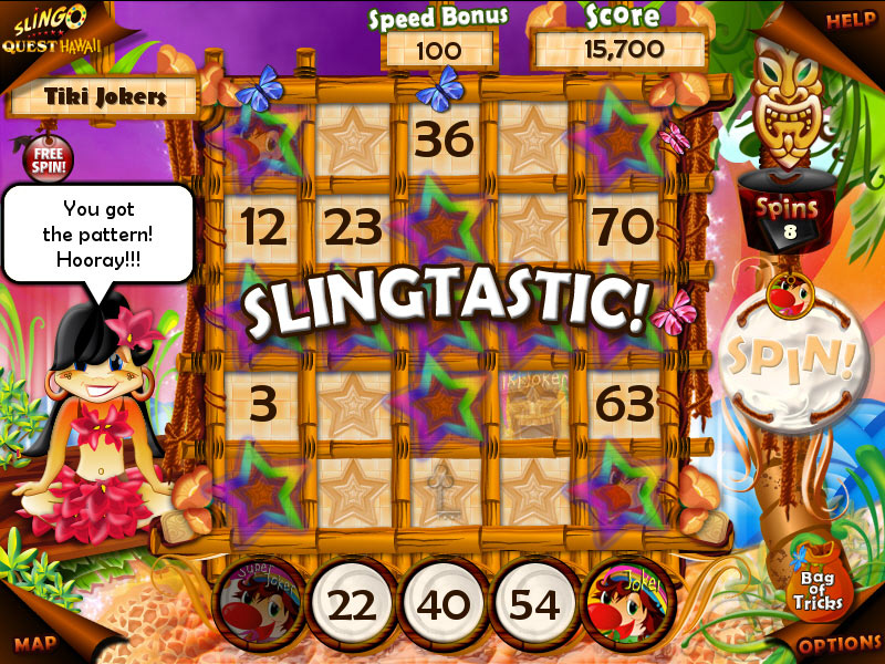 Slingo Quest Hawaii screen shot