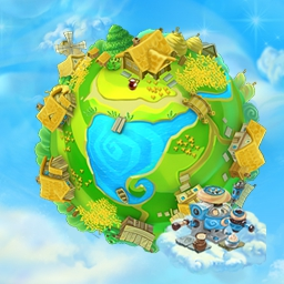 Snow Globe: Farm World - Ever wonder how to raise geese, feed cows and make mayonnaise in other worlds? Don't miss your chance to find out! Play Snow Globe: Farm World today! - logo