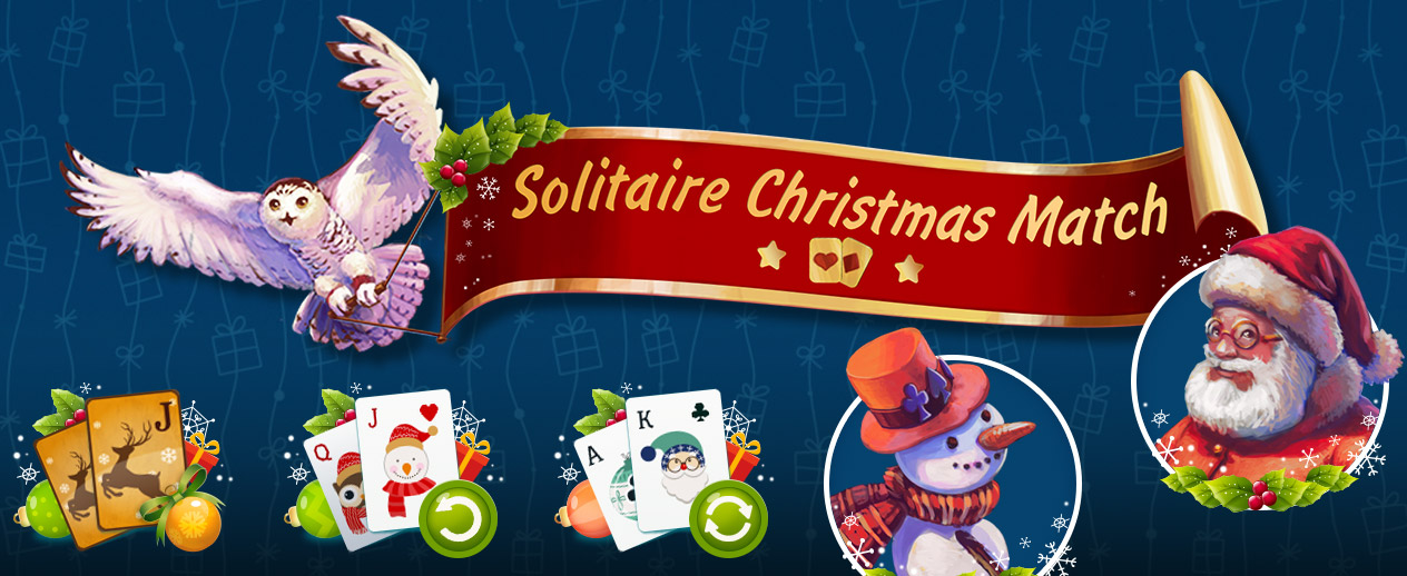 Solitaire Christmas: Match 2 Cards - Play 120 jolly levels! - image