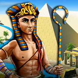 Solitaire Egypt - As ancient Egypt's supreme architect, it's up to you to build a magnificent city along the Nile with your card game skills in Solitaire Egypt. - logo