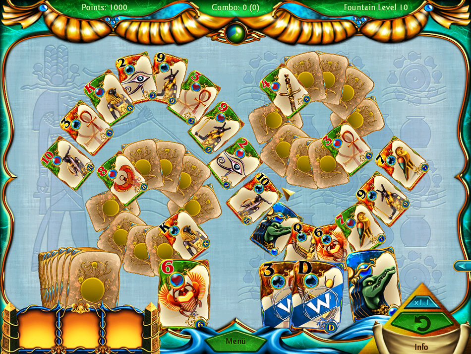 Solitaire Egypt screen shot