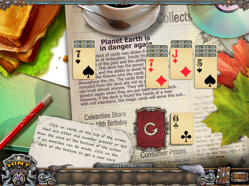 Solitaire Mystery: Stolen Power screen shot