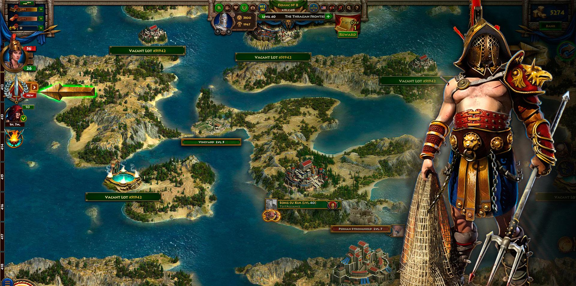 Sparta: War of Empires screen shot