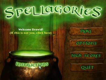 Spellagories screen shot