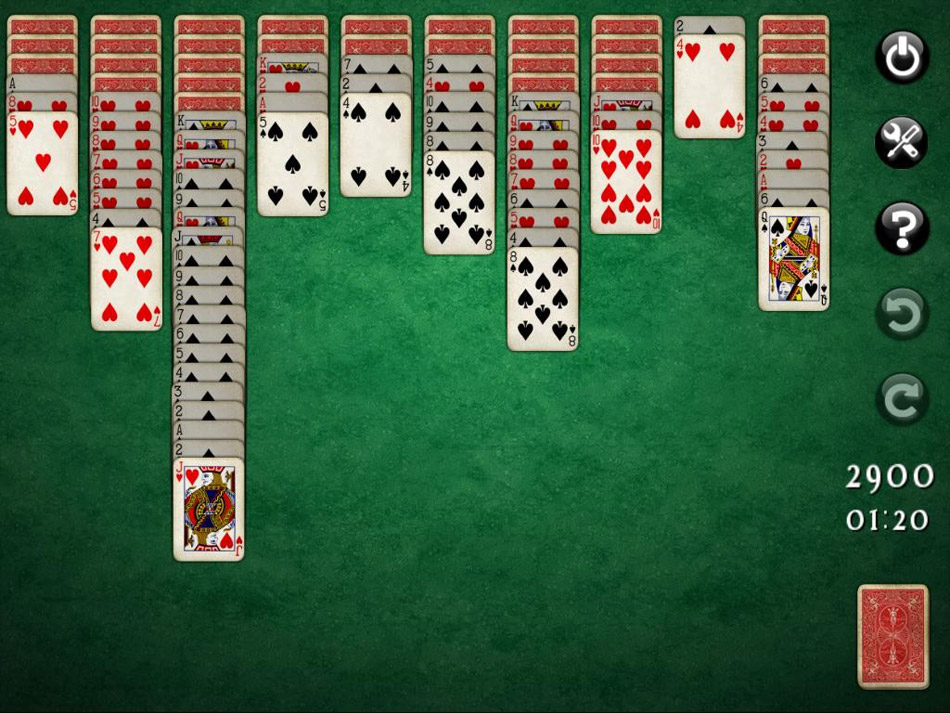 SpiderMania Solitaire screen shot