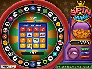 Spin and Win screen shot
