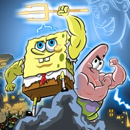 SpongeBob: Clash of Triton - SpongeBob: Clash of Triton is a fun action-arcade game for the whole family! Help SpongeBob and Patrick break Triton's spell over Bikini Bottom. - logo