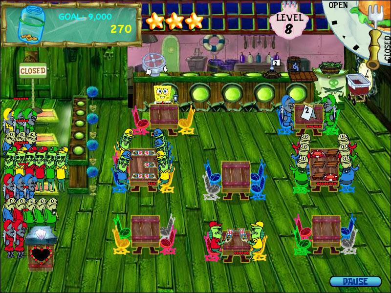 SpongeBob Diner Dash screen shot