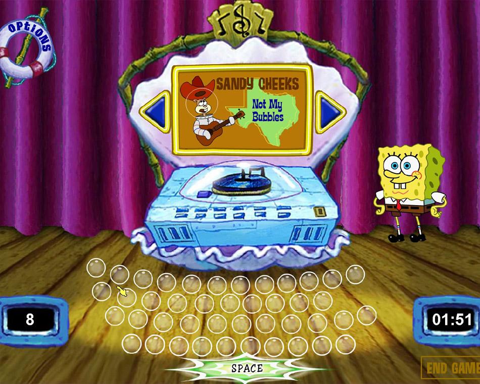 SpongeBob Typing screen shot
