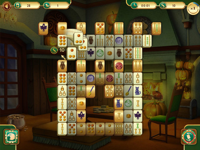 Spooky Mahjong screen shot