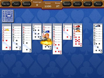 Spyde Solitaire screen shot