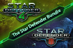 The Star Defender Pack bundles two sweet space shooters into one game. Battle hoards of aliens in Star Defender III and IV!