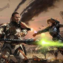 STAR WARS™: The Old Republic™ - Jedi, Sith, Bounty Hunter... who are you?  Live the saga in the MMO STAR WARS™: The Old Republic™.  May the Force™ be with you. - logo