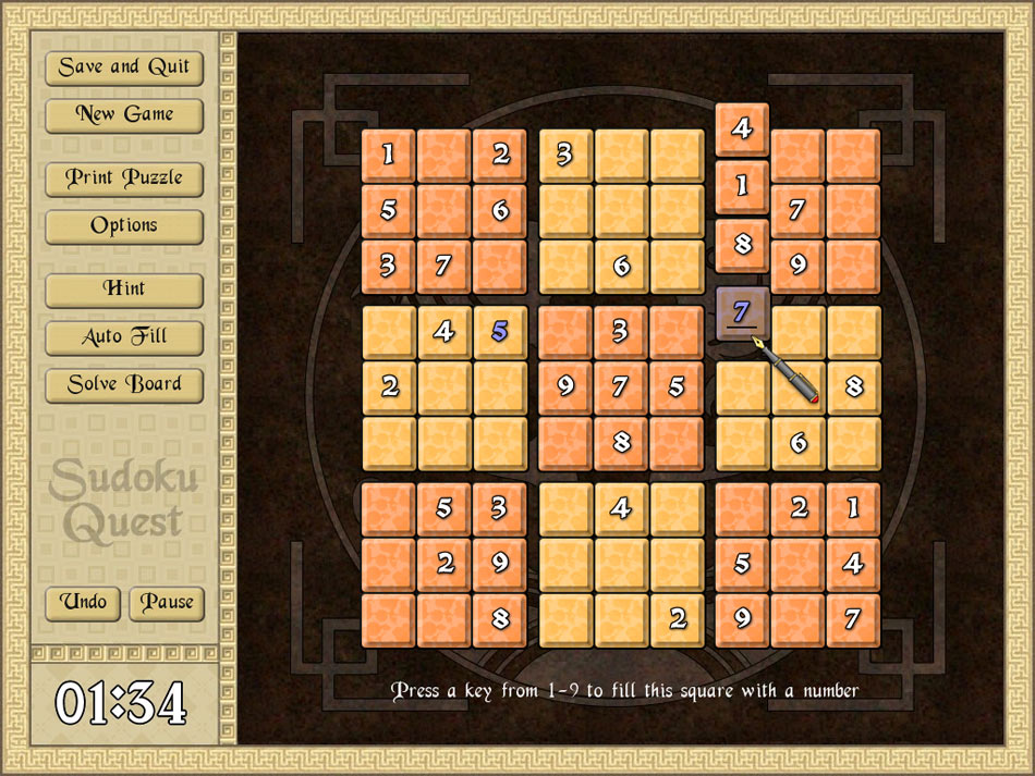 Sudoku Quest screen shot
