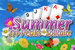 Enjoy the beauty of a sunny day while playing Summer Tri-Peaks Solitaire!