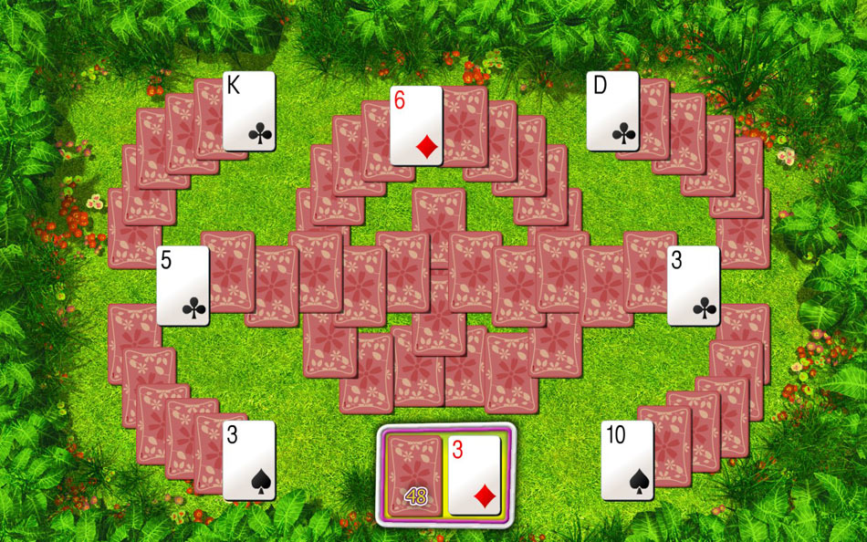 Summer Tri-Peaks Solitaire screen shot
