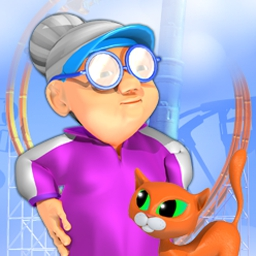 Super Granny 3 - Trail Granny in 5 hilarious scenes as she sets out to rescue her kitties! - logo