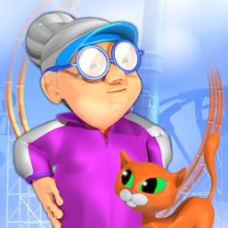 Super Granny 3 - ¡Sigue la pista de la Abuelita en 5 divertidísimos escenarios mientras va rescatando a sus gatitos! - logo