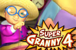 Help Super Granny and her friends rescue all the kitties in Super Granny 4!