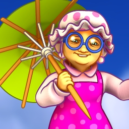 Super Granny 5 - Super Granny has been zapped by a shrink ray, and battles her own backyard! - logo