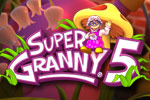 Super Granny has been zapped by a shrink ray, and battles her own backyard!