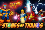 Thanos has the Infinity Gauntlet stones. Hero Up with the team to get those stones!