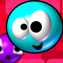 Super Slyder - Join this modern slip-n-slide and keep our blue character alive.  Can you send Slyder home? - logo