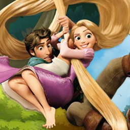 "Tangled: Double Trouble - In Tangled: Double Trouble, help Flynn get Rapunzel to the castle! Watch out for the guards and collect Flynn's ""Wanted"" posters along the way. - logo"