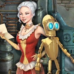 The Clockwork Man - Explore a fantastic world in The Clockwork Man, an epic hidden object game! - logo