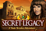 In The Secret Legacy: A Kate Brooks Adventure, collect the clues necessary to unravel a mystery, and then find a buried treasure!