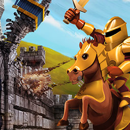 The Wall - Medieval Heroes - In The Wall - Medieval Heroes, you'll protect your village with an innovative combination of tower defense and time management! - logo