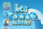 Using a swinging crane, stack the Ice Tower Blocks as high as you can.  Watch out!  Let too many fall and it's game over.