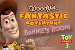 In Toy Story: Woody's Fantastic Adventure, help Woody find his lost friends in Bonnie's room!