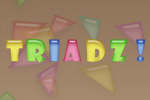 Twist your mind in a new way with the Triadz puzzle game!  Rotate and match four or more triangles of the same color to make them disappear.